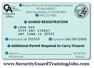 california guard card how to become a security guard in california. Black Bedroom Furniture Sets. Home Design Ideas